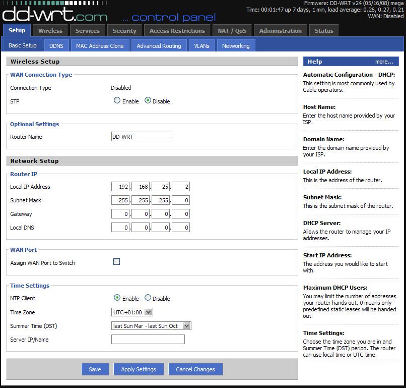 wrt610n assign static ip