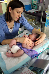 Oliver and Meghan at the NICU