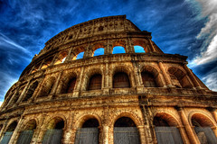 Grandeur of the Colosseum (dfworks) Tags: italy rome roma architecture ancient hdr 3xp photomatix sigma1020