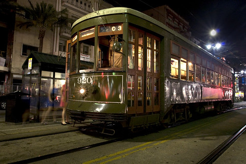Street Car on Poydras,New Orleans
