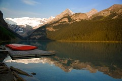 Lake Louise (sminky_pinky100 (In and Out)) Tags: red lake canada reflections landscape boats jetty alberta lakelouise boathouse banffnationalpark personalbest 5photosaday mywinners abigfave omot cans2s eyejewel theperfectphotographer amazingalberta goldstaraward landscapedreams