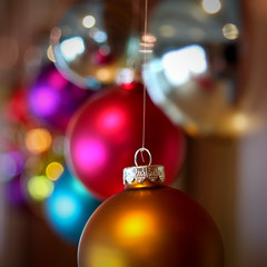 Holiday Bokeh (Rudy Malmquist) Tags: christmas street blue red orange holiday heritage colors silver cherry purple michigan hill grand historic rapids ornaments renovation abigfave highlandgroup