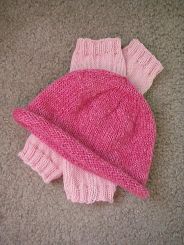 rolled brim hat and legwarmers