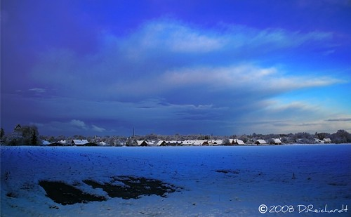 Cold winter landscape