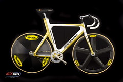 Bridgestone Anchor Sprint Track Bike with Mavic Wheels (KevinSaunders) Tags: bike bicycle photography bridgestone io bicycles fixie fixedgear carbonfiber mavic trackbike bespoke custombike bridgestoneanchor discwheel comete custombicycle kgsbikescom kgsbikes highendbicycle sprintbike