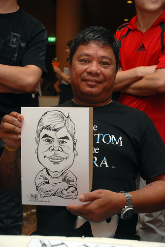 Caricature live sketching for Nippon Express Singapore Pte Ltd - 4