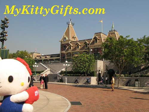 Hello Kitty at Hong Kong Disneyland Railroad Main Street Station