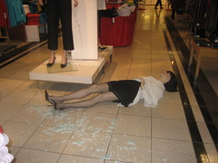mannequin down at macy's (davidsilver) Tags: mannequin mall macys holidayshopping