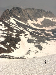 coming up Lyell Glacier (sheenjek) Tags: california geotagged glacier backpacking yosemite yosemitenationalpark tuolumne lyell mtlyell geo:lat=37741637 geo:lon=119274423