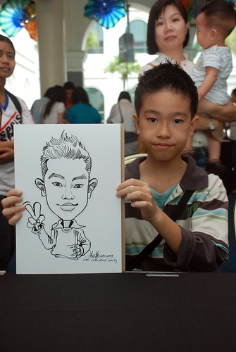 Caricature live sketching at Singapore Art Museum Christmas Open House - 17