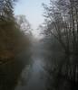 Susåen (Nektos) Tags: morning blue winter panorama brown mist water fog reflections denmark næstved susåen canondigitalixus70 vetorama lookslikeimstandinginthewaterp