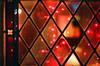 christmas day window - glasgow; oran mhor (chirgy) Tags: red church window lights restaurant bokeh glasgow rangefinder newyear scan analogue expired fairylights merrychristmas leadedglass christmasday fujisuperia bonappetit lookingin 800asa interestingness426 i500 convertedchurch kiev4am gelios helios10350mmf18 2009start