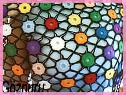 renlik örgü şal modeli