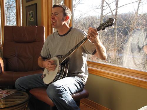 Mike on banjo
