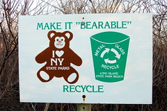 "Make It ""Bearable"" (taberandrew) Tags: ny newyork sign montauk recycling montaukpoint bearable suffolkcountyny"