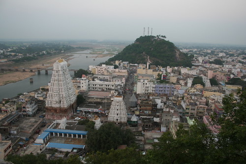 Birds eye view of Srikalahasti temple