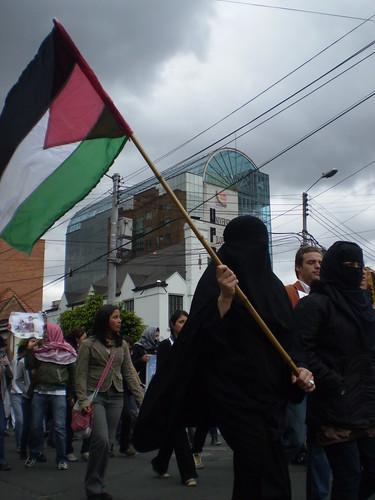 Marcha apoyo a Palestina / Gaza en Bogotá, Colombia - 20090106 - 1061675