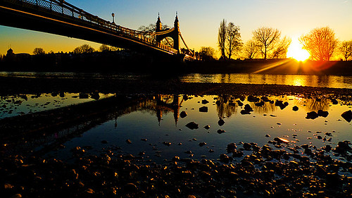 London Hammersmith Bridge Reflections