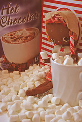 Mallowing out with some Coco (boopsie.daisy) Tags: christmas hot cute vintage pose yummy doll sweet chocolate stripes kitsch delicious coco marshmallows cocoa candycane