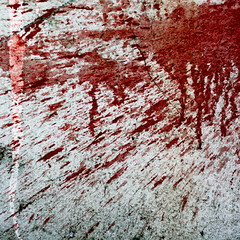 Blood spatter (daliborlev) Tags: red abstract texture wall square blood paint urbandecay brno damage cracks splash cracked spatter mundanedetail splosh 500x500 dextermorgan