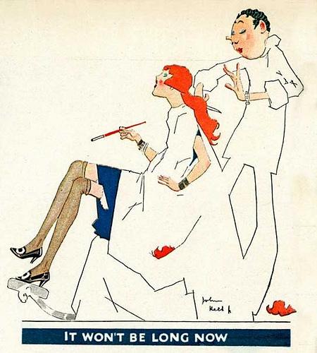 John Held, Jr ., It Won't Be Long Now, 1920s,
