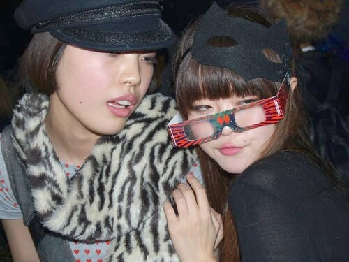 Naomi & Friend at Late Of the Pier after Party in Nagoya Japan