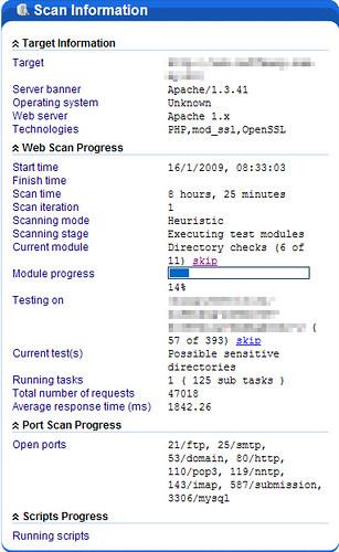 Acunetix Web Vulnerability Scanner - Scan Information