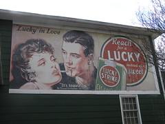 durham cigarette billboard luckystrike vintageadvertisement vintagebillboard pattersonsmill