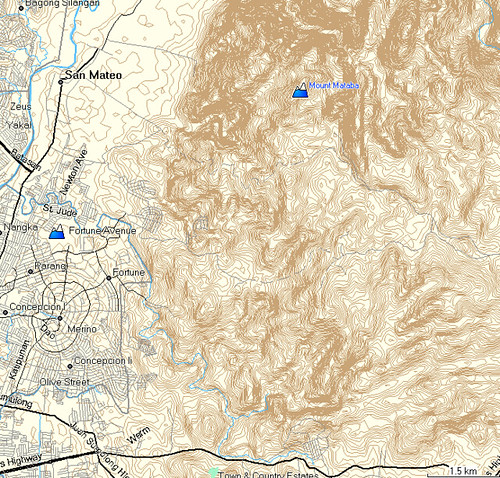 San Mateo made with OSM Map Composer