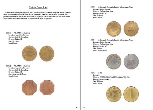 Rojas Costa Rica Tokens pages