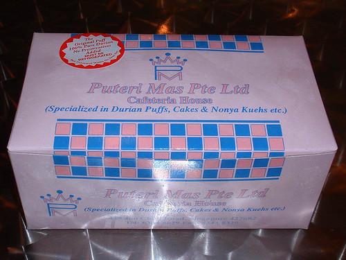 Puteri Mas durian puffs