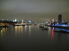 East from Waterloo bridge