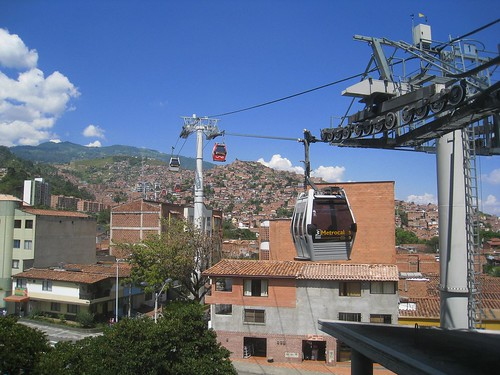 The southern cable car in Medellin