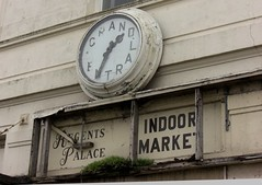 Grand Central, Weston-Super-Mare (Lady Wulfrun) Tags: old clock faded peelingpaint grandcentral derelict westonsupermare forlorn clockface disrepair deteriorate bereft paintpeeling