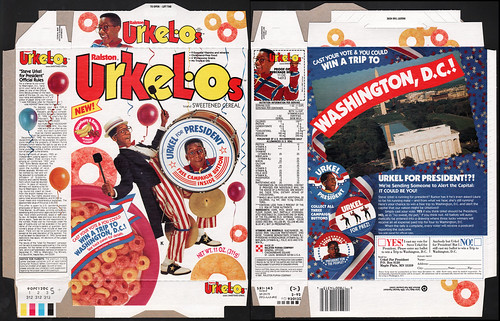 Ralston - Urkelos - Urkel For President - Cereal box - 1992