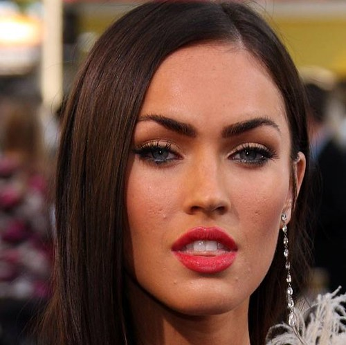 megan fox acne