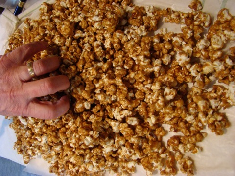 Homemade Caramel Corn is impossible to resist. The Messy Baker