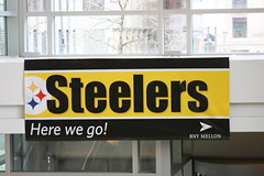 Here we go! (Deepak & Sunitha) Tags: pittsburgh nfl super bowl victory parade title superbowl sixth celebrate 2009 steelers champions grantstreet gosteelers terribletowel herewego steelernation xliii bnymellon sixburgh slashd