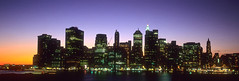 Manhattan Sunset 2 - New York (Yoann Fitoussi) Tags: nyc sunset newyork night soleil manhattan hasselblad velvia nuit xpan