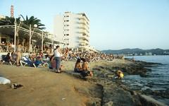 Cafe Mambo and beach (Gezlarge) Tags: sunset sun beach cafe spain san mambo ibiza antonio loungers balearics
