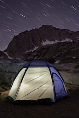 Outdoors Again (Mike Hornblade) Tags: california mountain tent backpacking sierranevada startrails northpeak