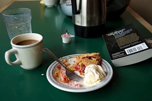 Darn good cuppa coffee, darn good piece'a pie.