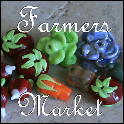 Lampwork Farmers Market Veggies
