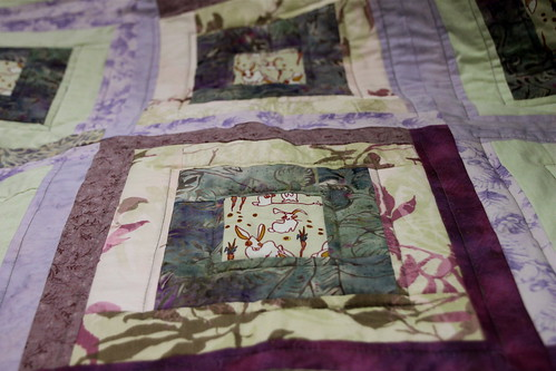 QfQ: Purple gone wild - quilt for sale!