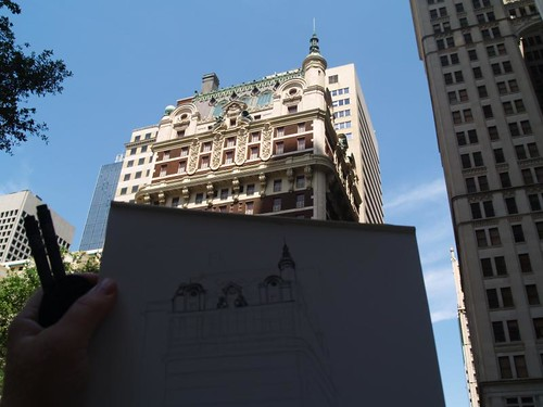 sketching the adolphus hotel