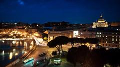 Blue Hour at the Vatican (Benson Kua) Tags: street blue trees sky people italy vatican rome roma cars saint night buildings lights long exposure italia basilica hour roads peters 1060323