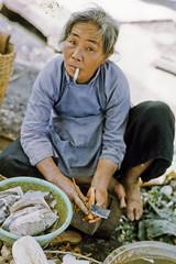 Street Vendor at My Tho market 1969 -- 178 (Lance & Cromwell) Tags: asia delta southeast mekong mytho vietnamwar vietnamwar1969 dinhtuongprovince mythovietnam