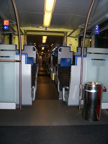 Train on way to Delémont, Switzerland