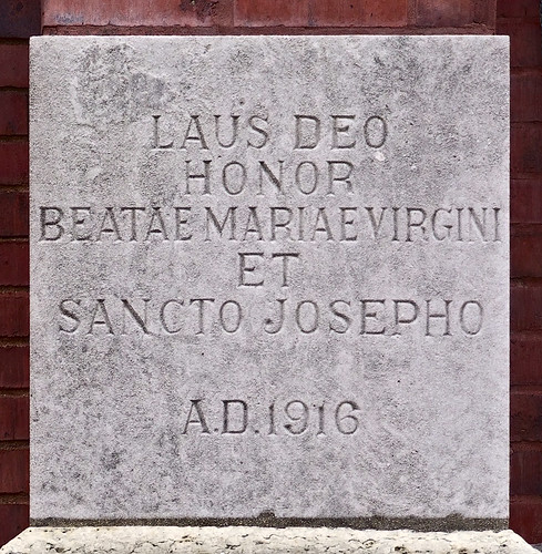 Saint Joseph Roman Catholic Church, in Bonne Terre, Missouri, USA - cornerstone