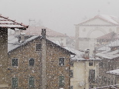 The church under the snow. (mickydelfavero) Tags: snow church easter spring cadore dolomities calalzo